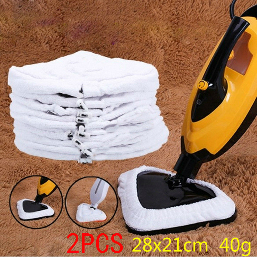 2PCS Steam Mop Cloth Mop Clean For Washable Reusable Cloth Replacement Pad Microfiber A20