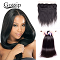 8A Grade Brazilian Virgin Hair With Closure Brazilian Straight Hair With Closure Ear To Ear Lace Frontal Closure With Bundles