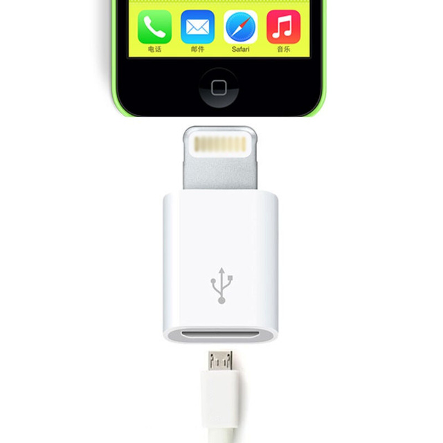 the best attitude 5fdfa fe54f Original mini OTG Light Converter For Lightning Convert to Micro USB  Adapter for iphone 5s se 6 6s 7plus ipad support charging