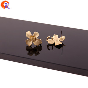 Image 2 - Cordial Design 100Pcs 18*20MM Jewelry Accessories/Earring Stud/Matte Gold/Flower Shape/DIY Making/Hand Made/Earring Findings