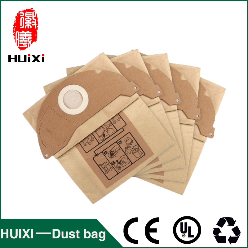 5 pcs Paper dust bags and filter change bags with high efficiency of vacuum cleaner parts for MV2  WD2.000-WD2.399 etc