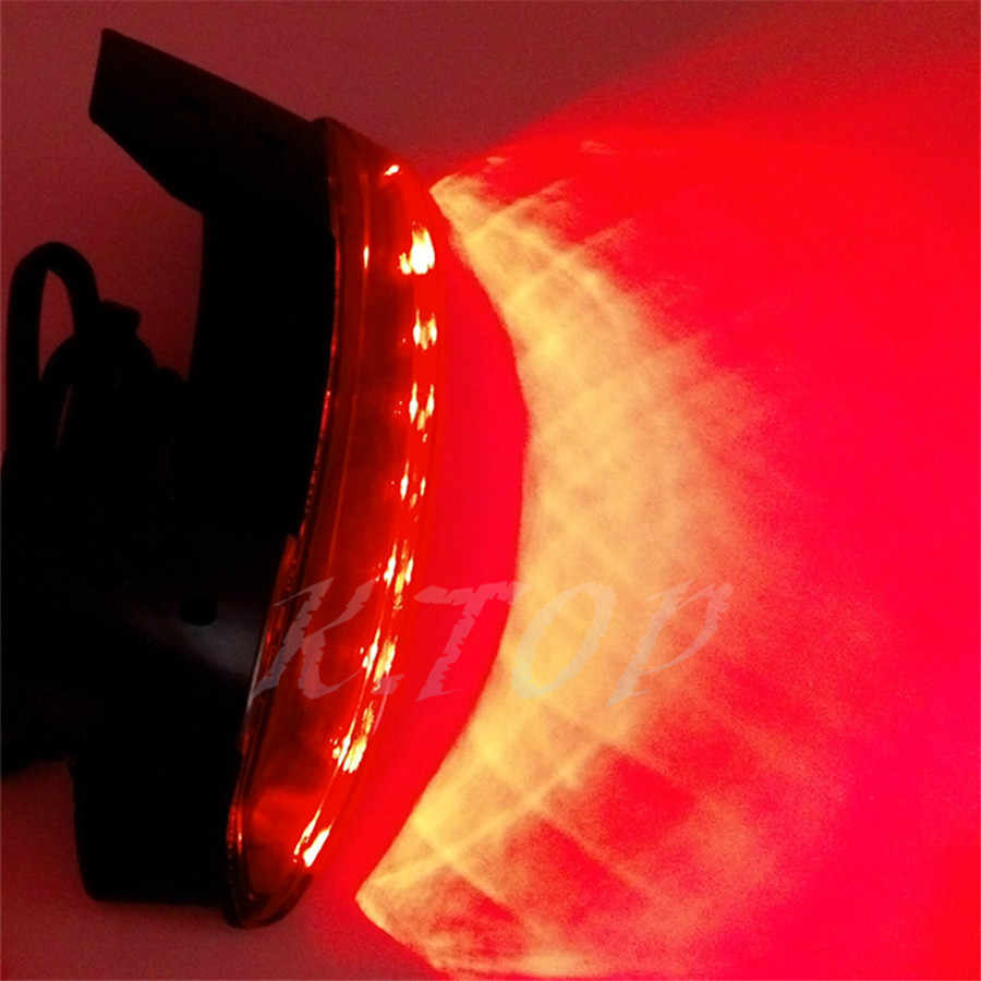Motorcycle Red Lens Rear Fender Edge LED Tail Light Fits For Harley Iron  883 XL883N XL1200N Chopped