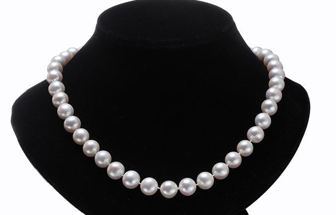classi c 9-10m south sea white round pearl necklace 18inch silverclassi c 9-10m south sea white round pearl necklace 18inch silver