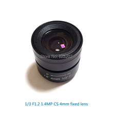 2016 hot china manufacturer camera hd f1.4 CS fixedl iris 4mm cctv lens for 1/3 inch