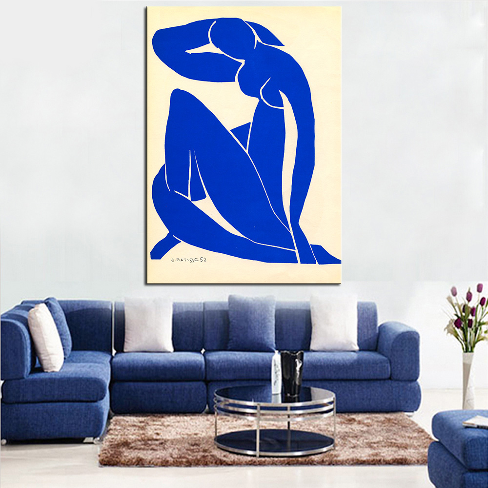 Blue Nude Giclee Poster Art Print By Impressionism Print -9333