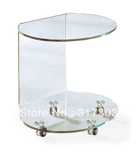 US $50.0 |Tavolino accanto divano, tè di vetro tavoli con ruote, sgabello  mobili soggiorno, tavolino, vetro di colore painting607 in Tavolino accanto  ...