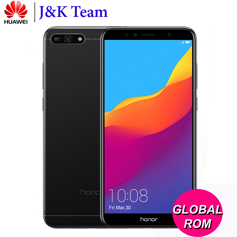Huawei Honor 7A 2 ГБ 32 ГБ 4G LTE Мобильного Телефона Face ID Разблокировка 5,7 дюймов полный вид Экран Android 8,0 13MP Камера 3000 мАч Батарея