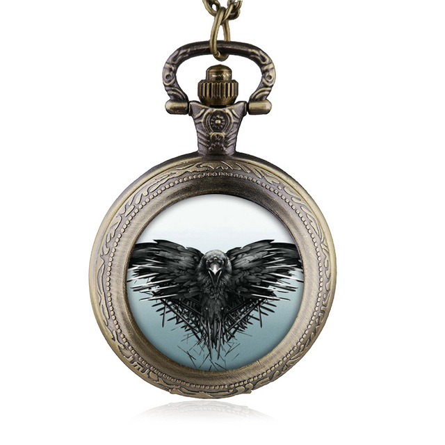Antique Game of Thrones Quartz Pocket Watch Jewelry