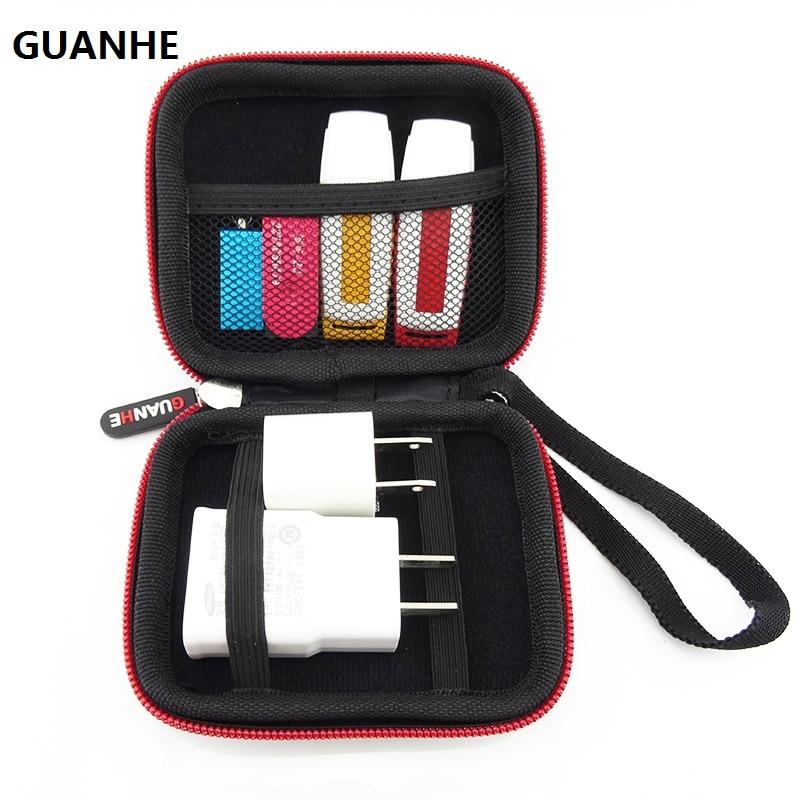 GUANHE New Hard Case Storage Bag SD Card Holder Earphone Earbud USB Flash Drive Bag Mini Hdd