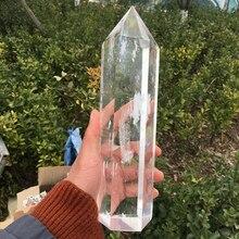 Большой размер плавильный камень белый прозрачный кварц камни и кристаллы обелиск палочка точечный Декор для дома и офиса обеспечивают энергию