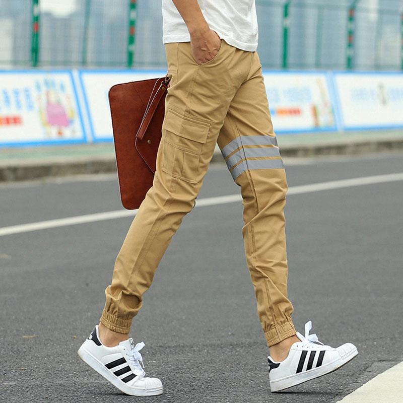 Khaki Joggers New Fashion Slim Fit Mens Sweat Pants Cargo Style Harem Pants Men Jogger Trousers