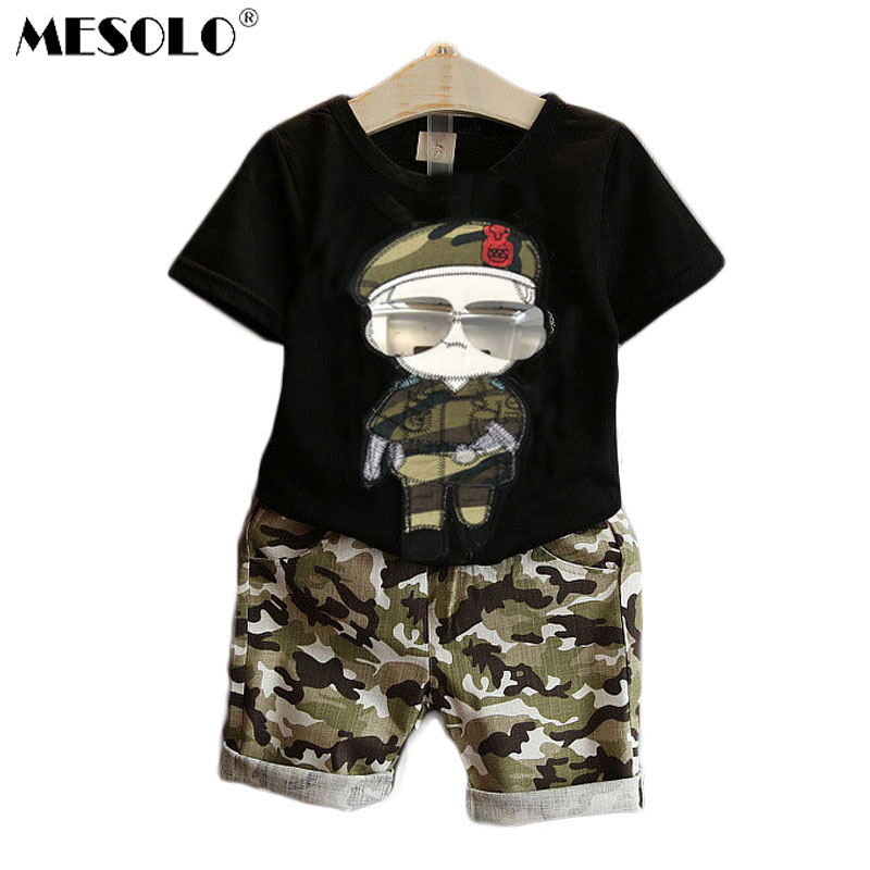 Summer Children Boy Clothes Sets Kids 2pcs Short Sleeves T-Shirt - Children's Clothing - Photo 1