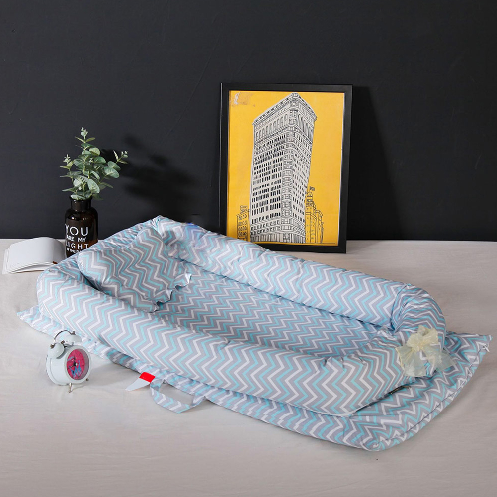 Portable Baby Bed Soft Baby Nest Printed Child Babynest Cradle Bedding Crib Kids Babynest Cotton Infant Travel Bed Nest 90*55 CM