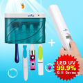 Fashion Family Pack UV-C Sanitizer Kit Portable Sanitizing Wand + Large Capacity Toothbrush Sterilizer Zero Germ& Bacteria Tools