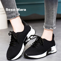 2017 New Outdoor Summer Women Shoes Breathable Net Cloth Casual Walking Shoes Light Air Cushion Shock