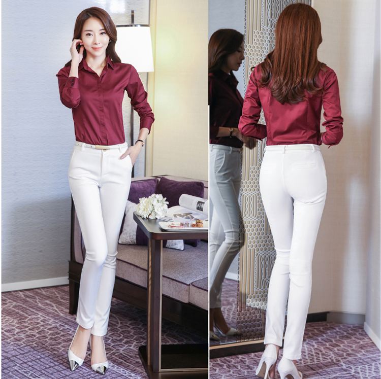 Women Pencil Pants 2019 Autumn High Waist Ladies Office Trousers Casual Female Slim Bodycon Pants Elastic Pantalones Mujer 27