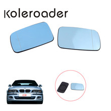 Blue Heated Wing Rear view Wide Angle Mirror Glass For BMW 5series E39 / 7series E38 525i 530i 540i 740i Not Auto-Dim //