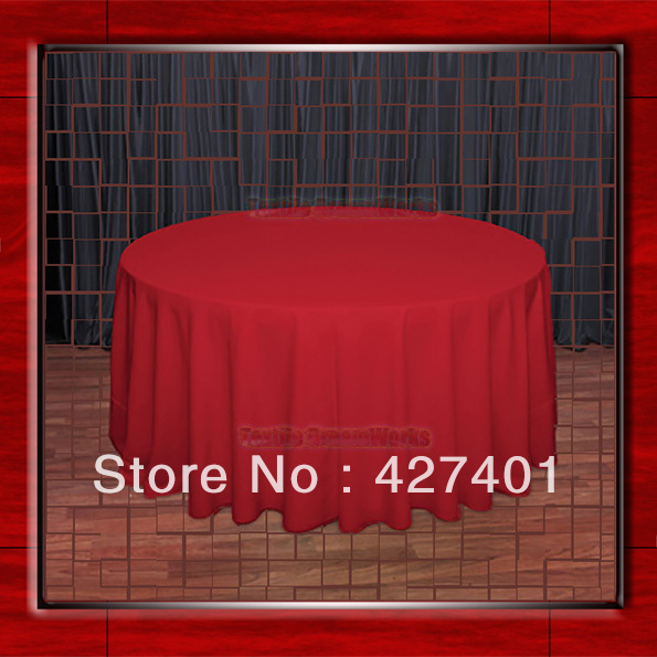 108R Red 210GSM Polyester plain Table Cloth For Wedding Events & Party Decoration(Factory Direct Sales)