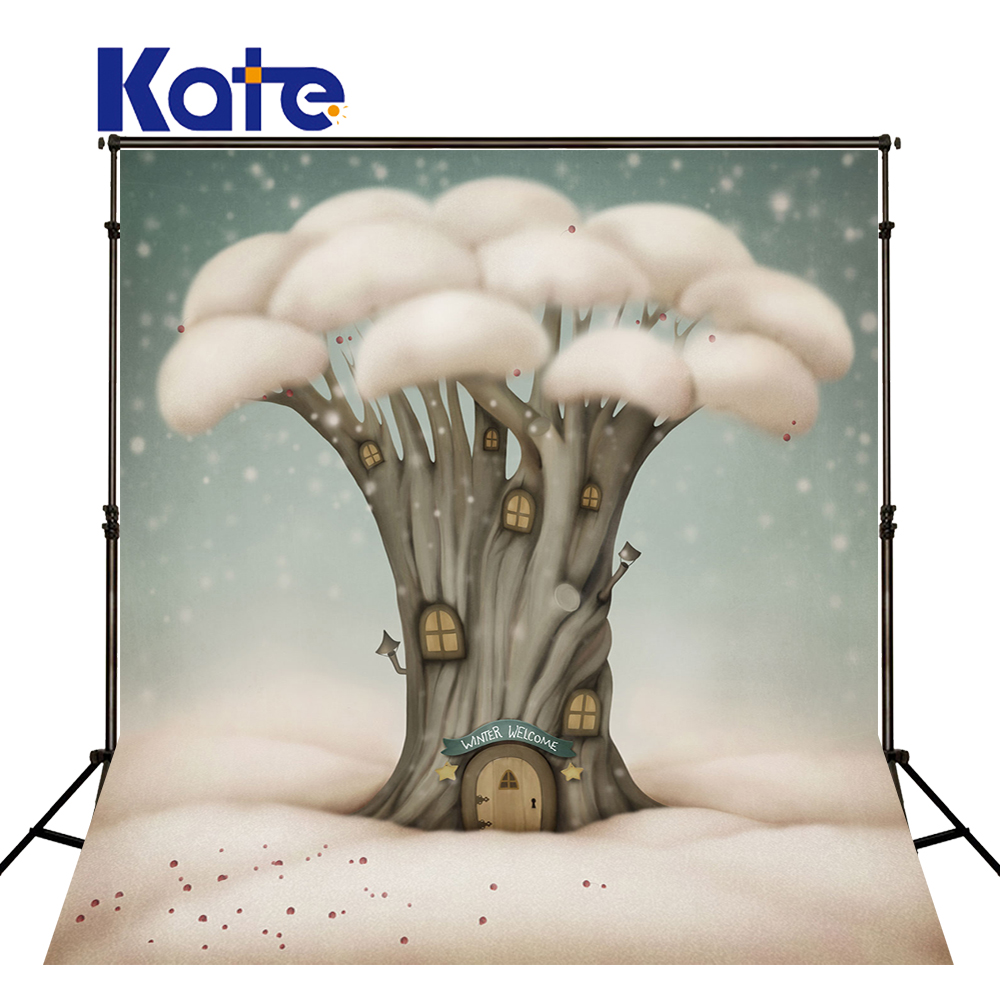 KATE Photography Backdrops Fairy Tale Forest Background Children Photo Backgrounds Photography Backdrop For Newborn Photo Shoot fairy tale arch printed newborn baby photo backdrops art fabric backdrop for studio children photography backgrounds d 9822
