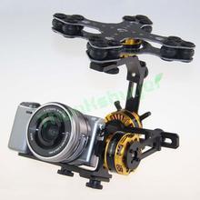 DYS алюминиевый сплав 3 оси бесщеточный карданный набор ptz камеры+ 3 шт. мотор для sony NEX ILDC камеры аэрофотосъемки