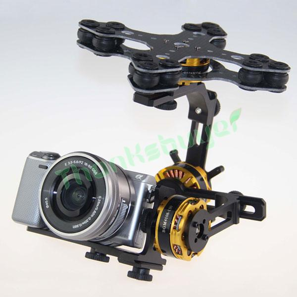 DYS Aluminium Alloy 3 Axis Brushless Gimbal Camera PTZ Kit + 3pcs Motor for Sony NEX ILDC Camera Aerial Photography запчасти и аксессуары для радиоуправляемых игрушек 2015 3 ptz dys w 4108 evvgc nex ildc dys 3 axis