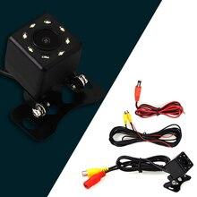 BYNCG WG 8 светодиодов, камера заднего вида, универсальная камера заднего вида, 8 светодиодов, ночное видение, HD CCD, для всех авто, DVD