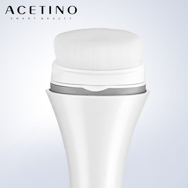 ACETINO Waterproof Facial Cleansing Brush Blackhead Removal Tool Soft Fur Pore Cleaner Electric Beauty Cleansing Instrument new wash face machine deep clean facial skin blackhead remove massager electric pore cleansing brush beauty instrument m2