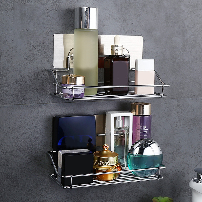 ShuangQing Home ResideStrong suction cup free punching bathroom toilet wall hanging vanity kitchen storage rack SQ-5002