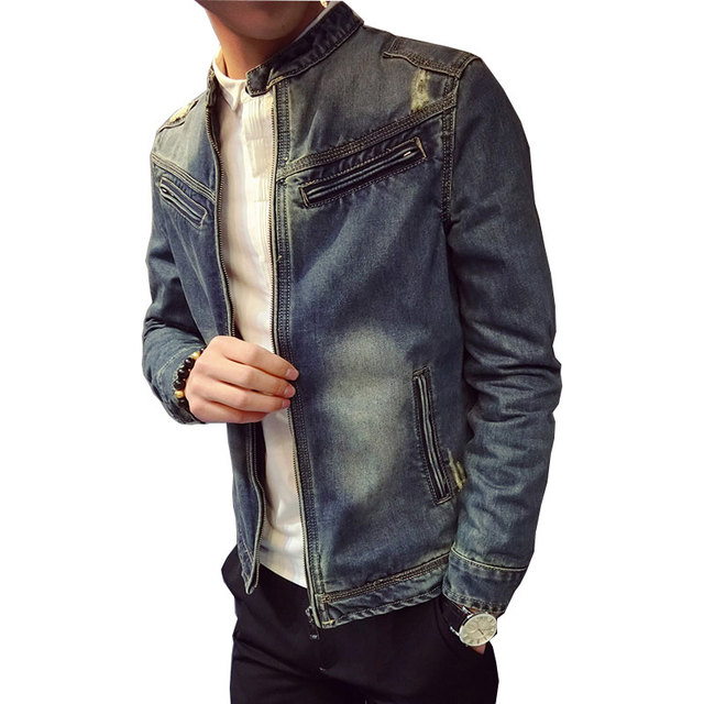 the best attitude 3f483 61498 US $49.0 |2017 Nuovo Arrivo Giacca di Jeans Da Uomo Autunno Moda Uomo Slim  Fit Jeans Dell'uomo Giubbotti Uomo Autunno Inverno Jeans Casuali ...
