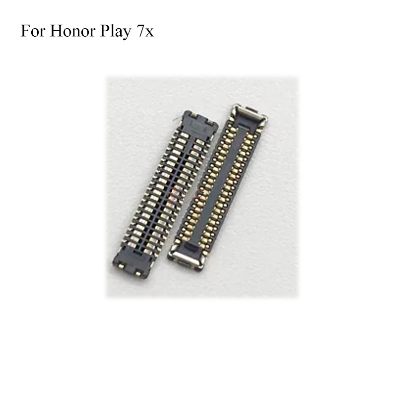 2 SET For <font><b>Honor</b></font> Play 7x LCD display screen FPC connector For <font><b>huawei</b></font> <font><b>Honor</b></font> Play 7x <font><b>7</b></font> x logic on <font><b>motherboard</b></font> mainboard on cable image
