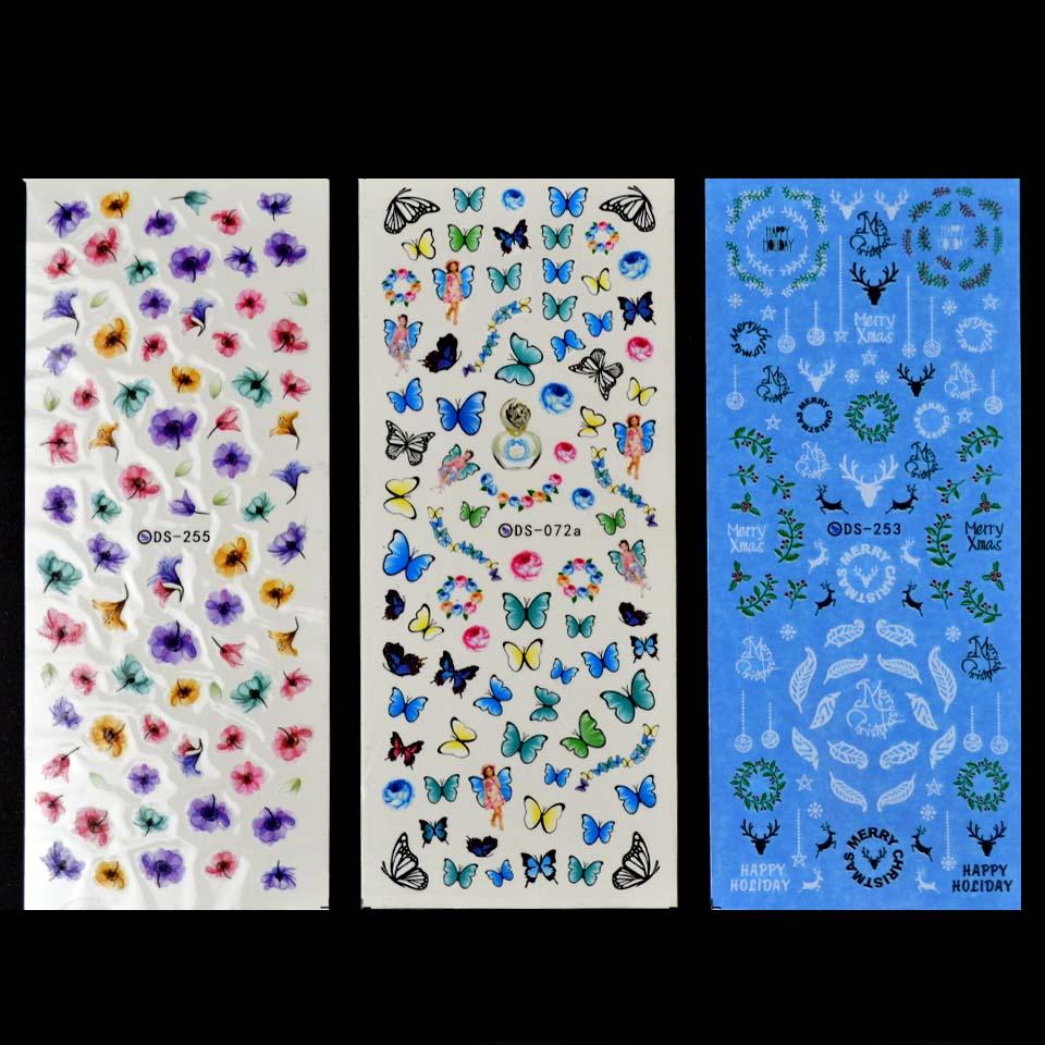 ᐃDIY diseñador de transferencia de agua Clavos Art sticker ...