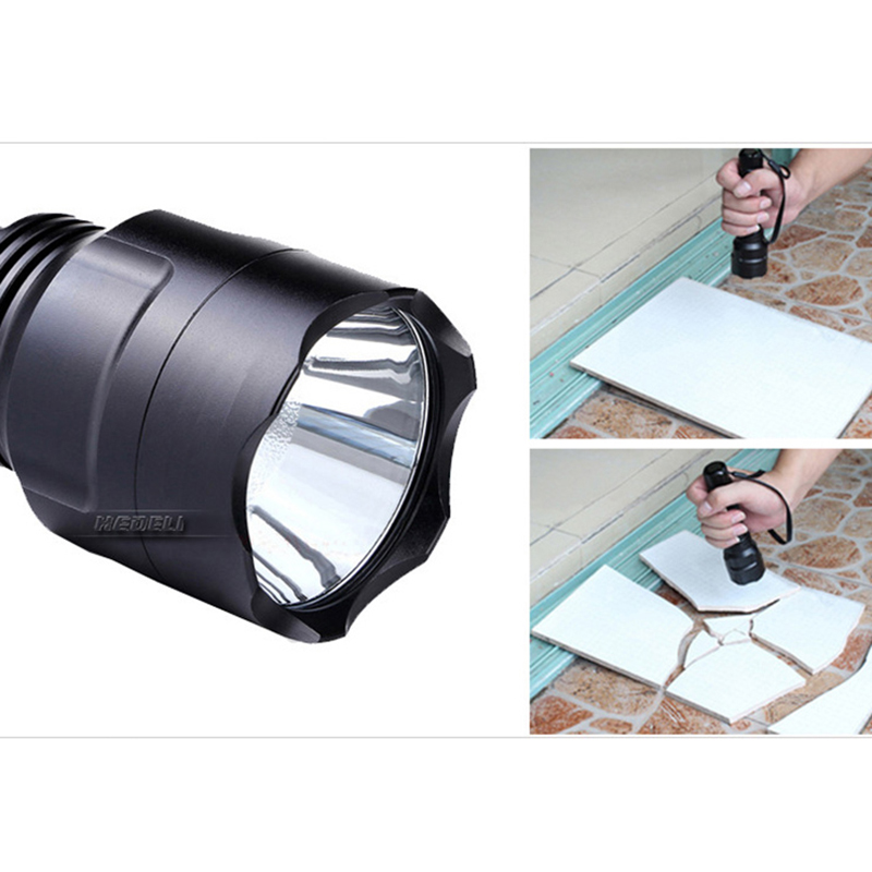 Led flashlight tactical self defense flash light waterproof torch search lanterna for hunting 18650 Rechargeable Battery zaklamp