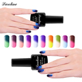 Saroline Temperature Mood Color Changing Nail Polish Thermo Chameleon Soak off LED UV Lacquer Gel Varnish nail art