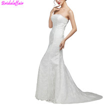 Elegant Lace Mermaid Wedding Dresses Ivory Gown vestidos de noiva robe mariage bridal dress Vestido Noiva