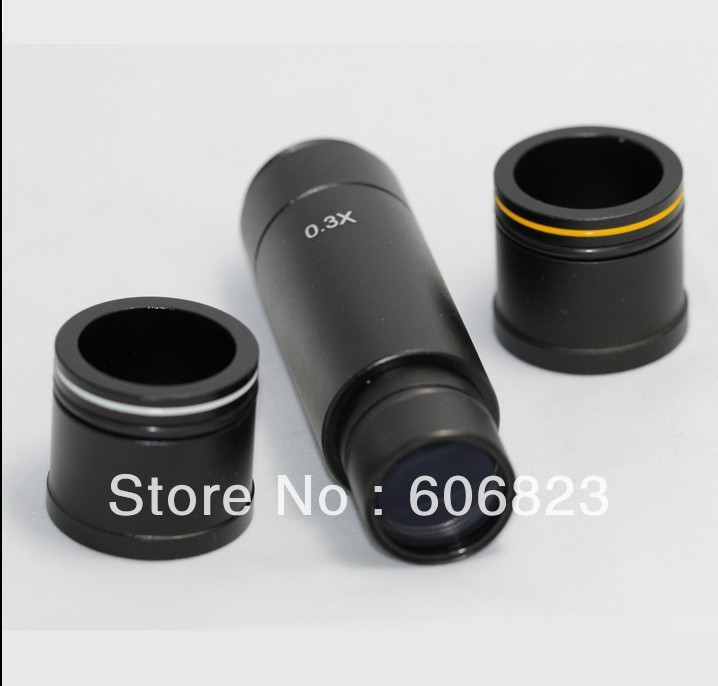 Microscope camera 0.3x  Reduction lens, eyepiece C mount adapter lens 23.2mm 30mm 30.5mm adapter best sale ndpl 2x can non eos microscope camera adapter slr dslr microscope camera eyepiece adaptor 23 2mm dia 30mm ring
