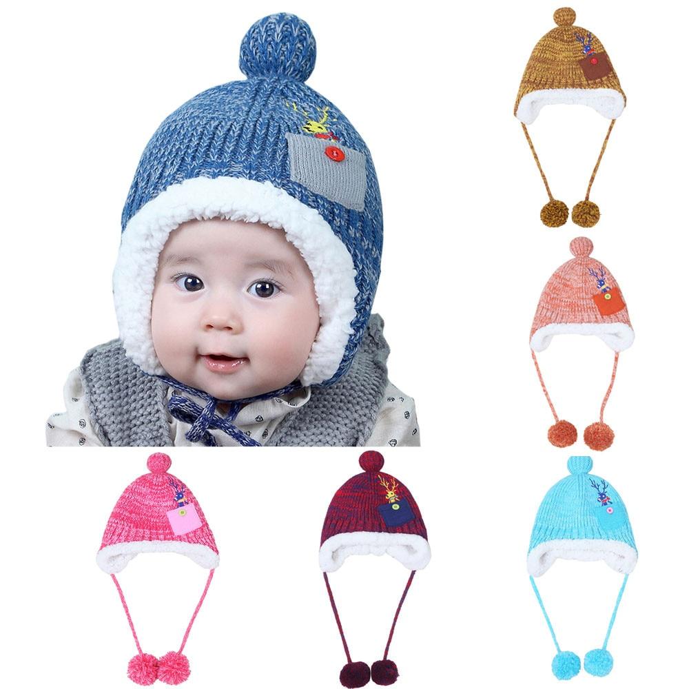1-4 Years-Old Kids Baby Boys Girls knit cap beard girls costume Beanie Pocket Cotton Hat Children Print Knitting Hats