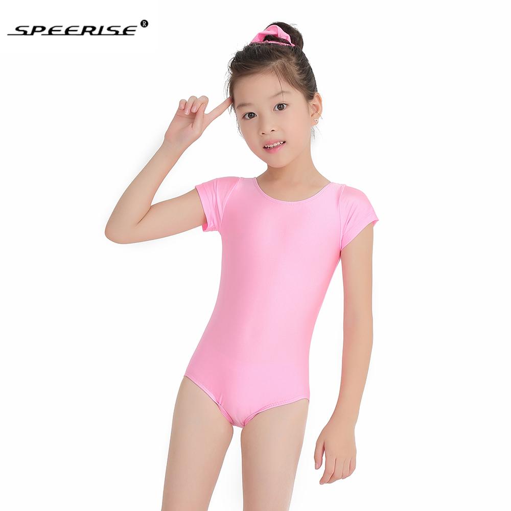 c5a509b5da SPEERISE Girls Cap Short Sleeve Leotard Ballet Spandex Lycra Unitard ...