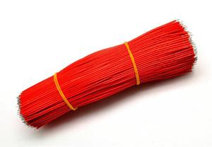Проволока с покрытием из олова, 100 шт., 30AWG 150 мм, 15 см длина, красные цвета, проволока для сварки, 0,8 мм