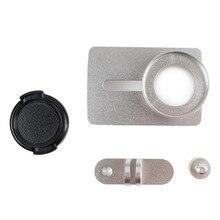 Caso del capítulo de aluminio de protección + lente tapa para xiaomi yi 2 ii 4 k cámara