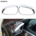 For KIA Sportage 4 QL 2016 2017 Car Styling ABS Chrome Rearview Mirror Rain Eyebrow Cover Frame Trim Decoration Auto Accessories