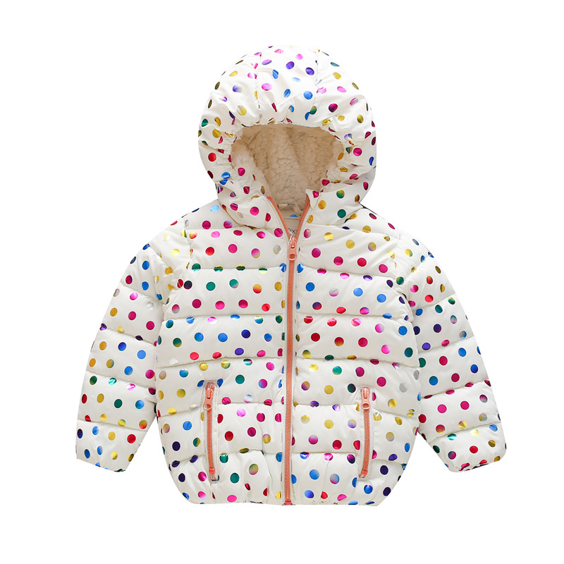 82776 Baby Jacket Winter Girl Coat For Girls CLothes Dot Fleece Hooded Girls Jacket Worm Girl Outerwear Kids Jacket Lolita морозильная камера бирюса 560vk
