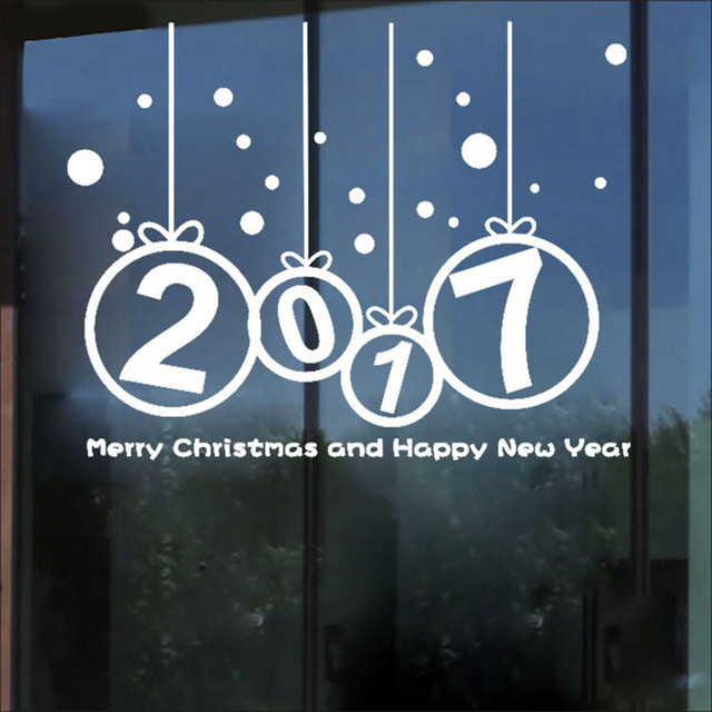 Наклейки Новый Год 2017 Рождеством Стикер Стены Главная Магазин Наклейки Декор U61020