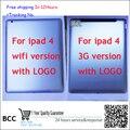 Оригинальный Для ipad 4 3g версия WI-FI версия Батарейного Отсека Вернуться Задняя Крышка Корпуса Case Запасные Части Test ok, + отслеживая