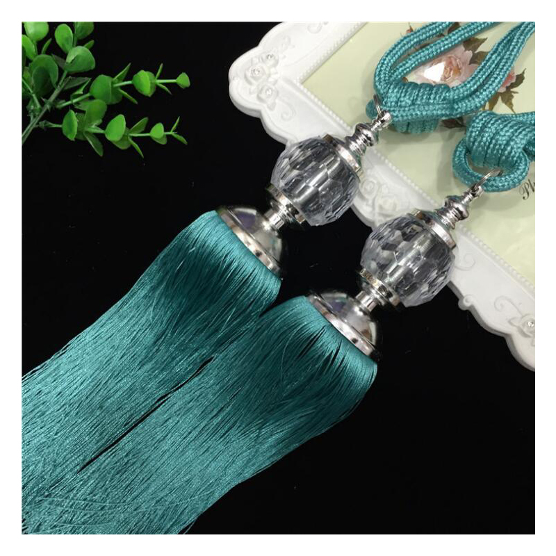 1Pair Factory Direct High Quality Crystal ball Curtain Tieback Tassels for Europe Curtains Living Room Curtain Holder Bedroom