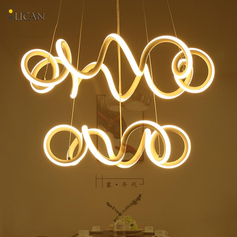 LICAN висит кулон AC 85-265 В светильник colgante круг подвесной светильник suspendor Кухня жизни Dinig свет приспособление ...