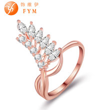 Brand New Womens Luxury Special Rings Romantic Rose Gold Color Fashion Style Ring with AAA Cubic Zircon Stone for Wedding brand new womens luxury special rings romantic rose gold color fashion style ring with aaa cubic zircon stone for wedding