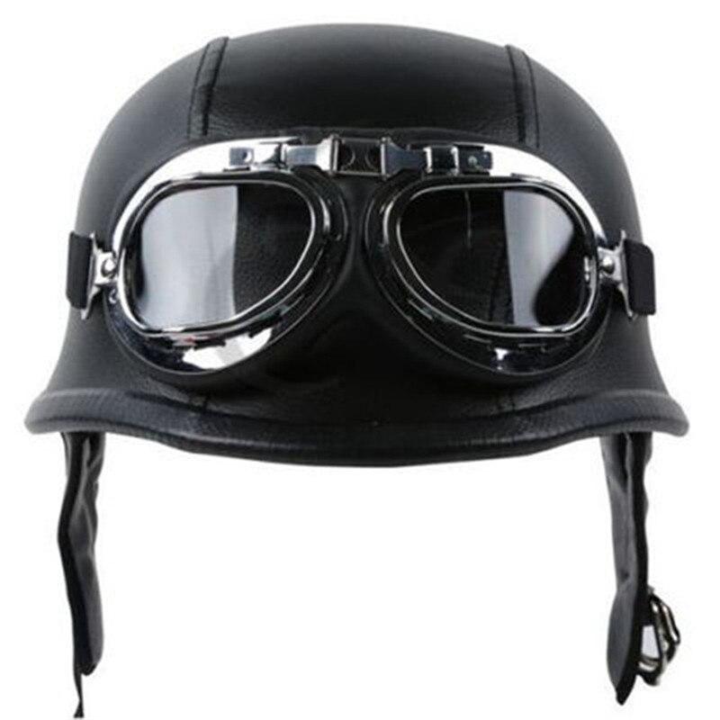CARPRIE Motorcycle Safety Helmet ABS Semi covered DOT Retro Motorcycle Safety Helmet Personalized Mens Womens Black dropship m15