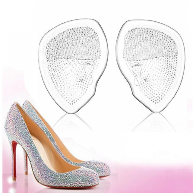 אלסטי ג 'ל קדמת כף הרגל סיליקון Pad נעלי רגל תמיכת כריות כאב כאב מדרסים רגל טיפול רך כאב הקלה עבור נשים