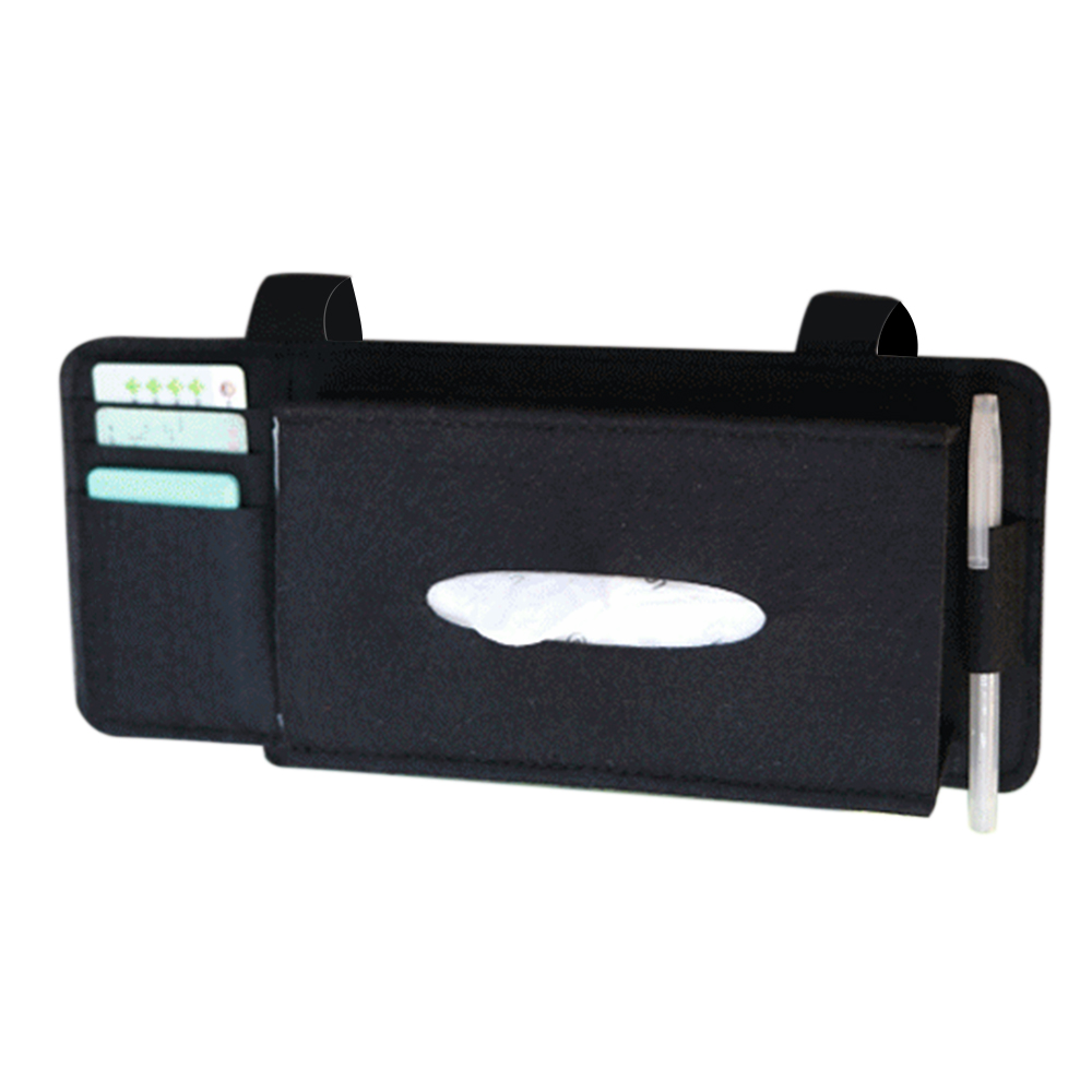 Pocket-Organizer Tissue-Box Vehicle-Accessories Car-Napkin-Holder Sun-Visor Fashion-Case title=