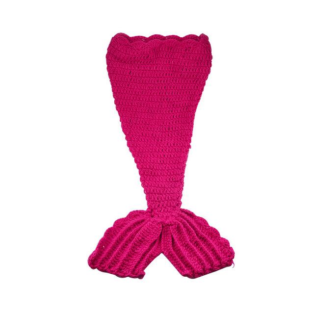 Caliente de lana tejidas a mano de Ganchillo bebé Sirena fotografía 100 días fotografiado accesorios del todo-fósforo del bebé recién nacido